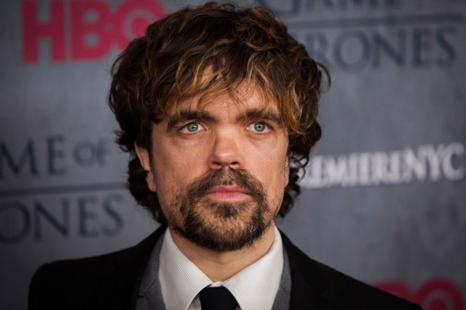 "Cast member Peter Dinklage arrives for the premiere of the HBO series ""Game of Thrones"" in New York March 18, 2014. REUTERS/Lucas Jackson (UNITED STATES - Tags: ENTERTAINMENT)"