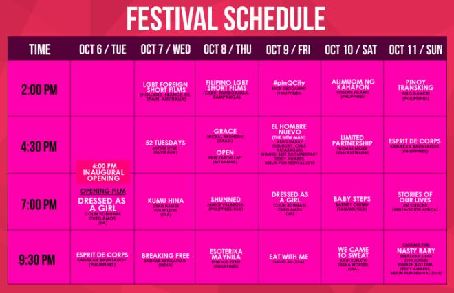 QC Intl Pink Fest Sched