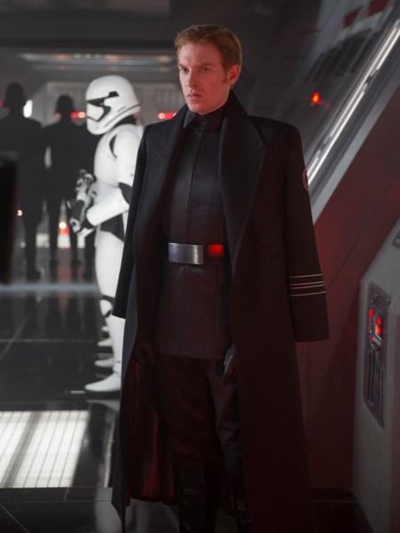 Star Wars: The Force Awakens..General Hux (Domhnall Gleeson)..Ph: David James..?Lucasfilm 2015