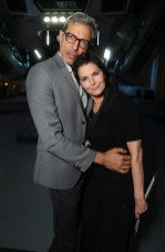 """EXCLUSIVE - Jeff Goldblum and Sela Ward seen at the """"Independence Day Resurgence"""" Global Production Event on Monday, June 22, 2015, in Albuquerque, New Mexico. (Photo by Eric Charbonneau/Invision for Twentieth Century Fox/AP Images)"""