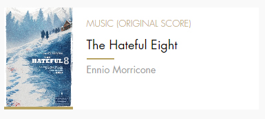 Original Score Hateful Eight