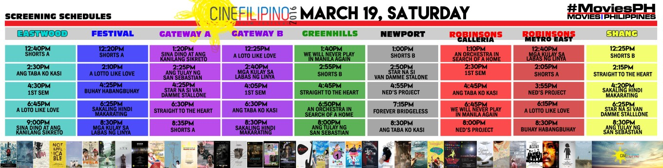 CineFilipino Sked March 19