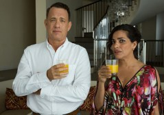 hanks and sarita choudhury in A HOLOGRAM FOR THE KING