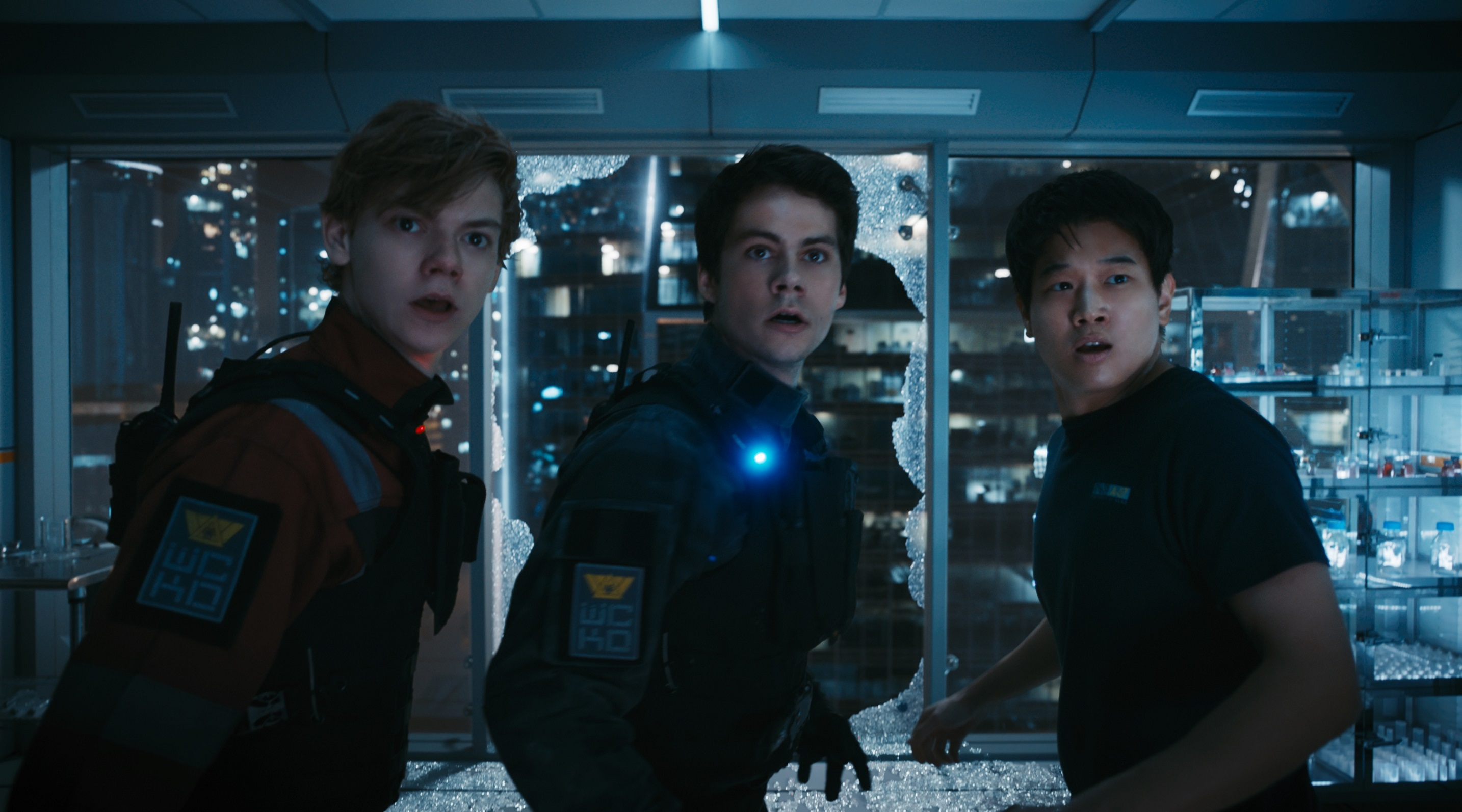 brodie-sangster, o'brien and ki hong lee in MAZE RUNNER THE DEATH CURE
