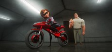 """TAKING THE WHEEL -- In """"Incredibles 2,"""" Helen aka Elastigirl is called on to help bring Supers back. Her mission comes with a brand-new Elasticycle, a state-of-the-art cycle that is designed just for her. Meanwhile, Bob navigates the day-to-day heroics of """"normal"""" life at home. Featuring the voices of Holly Hunter and Craig T. Nelson, Disney•Pixar's """"Incredibles 2"""" busts into theaters on June 15, 2018. ©2018 Disney•Pixar. All Rights Reserved."""