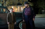 """Lewis Barnavelt (Owen Vaccaro) sees the home of his Uncle Jonathan (Jack Black) for the first time in """"The House With A Clock in Its Walls,"""" the spine-tingling, magical adventure of a boy who goes to live with his eccentric uncle in a creaky old house with a mysterious tick-tocking heart. Based on the first volume in the beloved children's series of books, the film is directed by master frightener Eli Roth."""