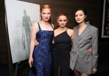 """Annalise Basso, Joey King and Julia Goldani Telles attend and host the Special Screening of Screen Gems' """"SLENDER MAN,"""" at iPic Westwood Theater. (Photo by Blair Raughley/Invision for Sony Pictures/AP Images)"""