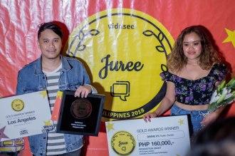 Gold Winner Ruelo Zendo with actress Divine Acuna