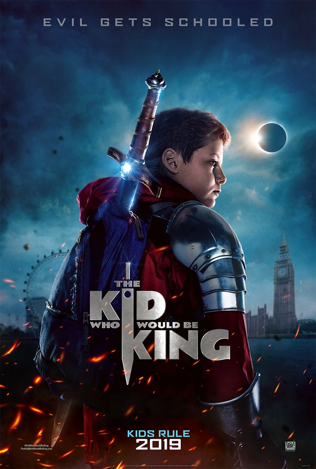 THE KID WHO WOULD BE KING -teaser poster