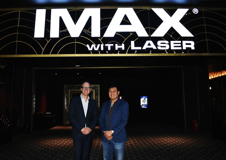 Imax's John Schreiner with Manny Villar