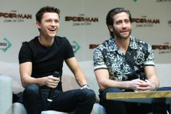 Queretaro, Mexico – May 4, 2019: Tom Holland and Jake Gyllenhaal attend Conque in Mexico on behalf of Columbia Pictures' SPIDER-MAN: FAR FROM HOME.