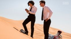 Chris Hemsworth (H) with Em (Tessa Thompson) in Marrakech in Columbia Pictures' MEN IN BLACK: INTERNATIONAL.