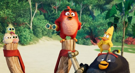 (L to R) The Hatchlings, Red (Jason Sudeikis), Chuck (Josh Gad) and Bomb (Danny McBride) in Columbia Pictures and Rovio Animations' ANGRY BIRDS 2.