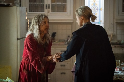 Lin Shaye and Andrea Riseborough in Screen Gems' THE GRUDGE.