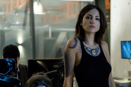 KT (Eiza Gonzalez) in the RST Lab in Columbia Pictures' BLOODSHOT.