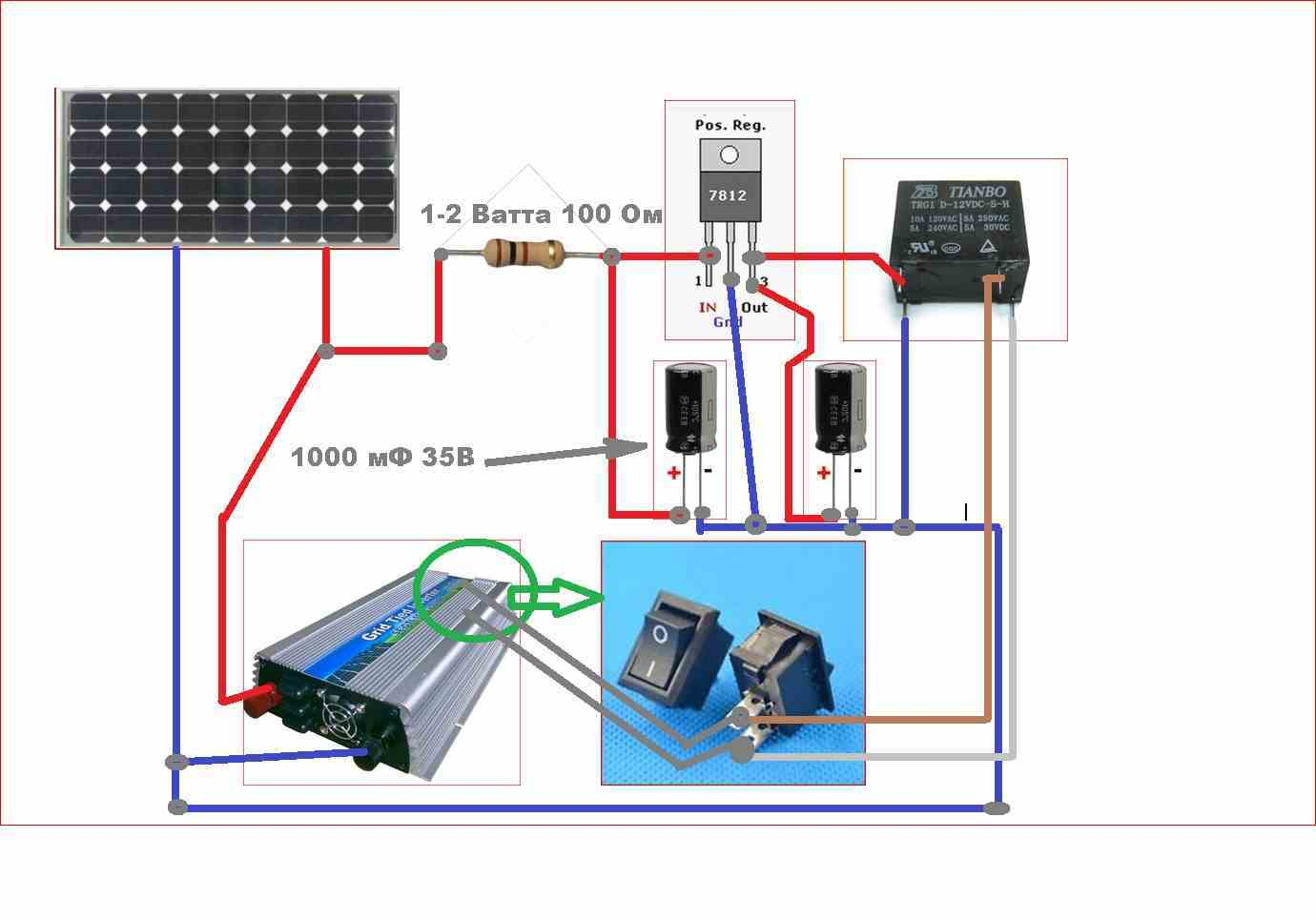 солнечные батареи подключение