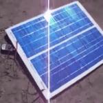Тестирование самодельной солнечной панели на улице производство США