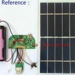 Плата контроллера заряда для литиевого аккумулятора от солнечной панели, может использоваться как power bank