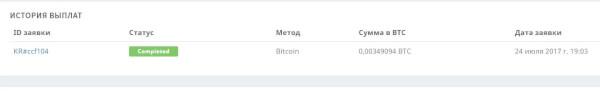 Фото отчет вывода денег на биржу с kryptex