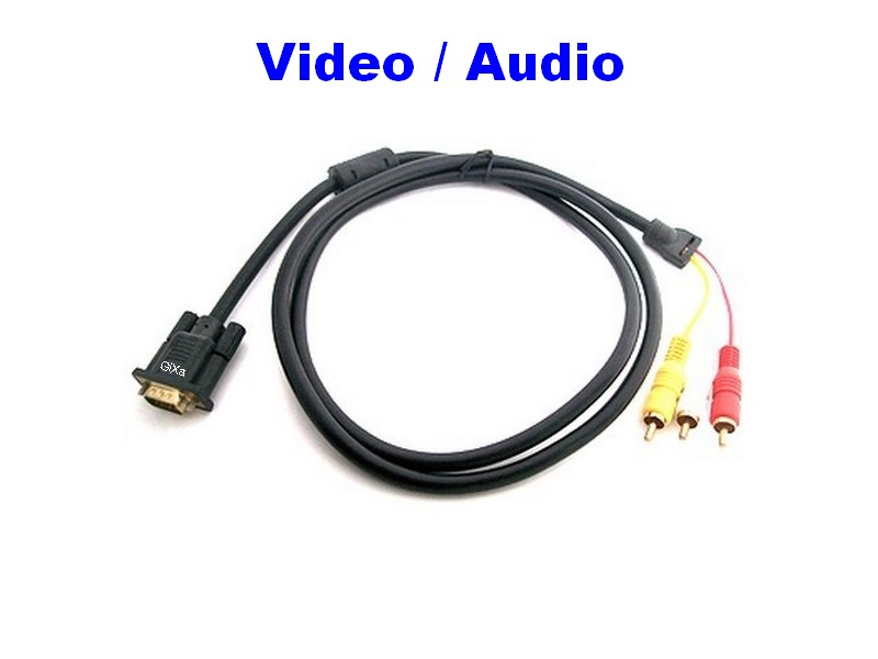 YUV VGA cavo adattatore AUDIO VIDEO a 3 RCA connettore RCA