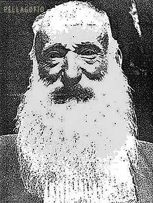Domingo Medina, el Patriarca del Cedro, retratado en 1927 para la revista 'Hesc. G.pérides'.  ARCHIVO PELLAGOFIO