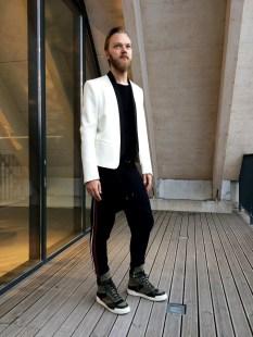 Balmain x H&M jacket and joggers look (pellissimo.ee) #balmaination