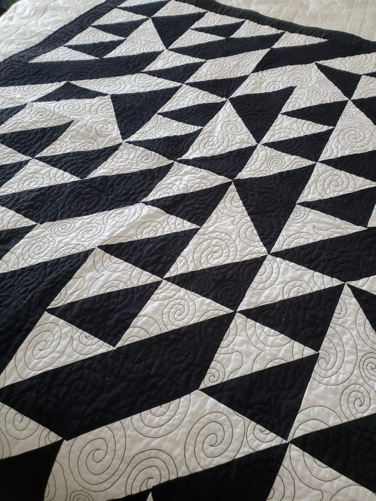Black And White Quilt : black, white, quilt, QUILTING, Modern, Black, White, Quilt, Revive