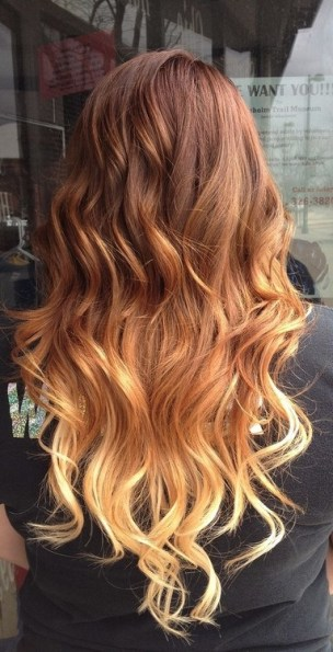 pretty-brown-to-blonde-ombre-hair-with-waves-for-women