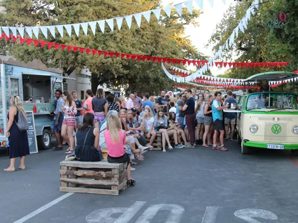 Festa de vinhos em Stellenbosh