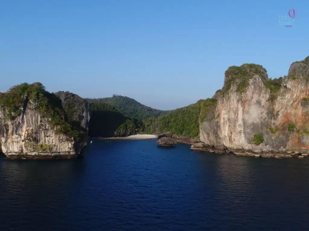 Parte das ilhas Phi Phi