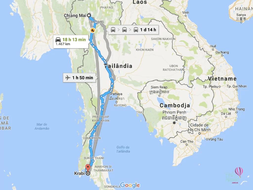 Como ir de Chiang Mai para Krabi