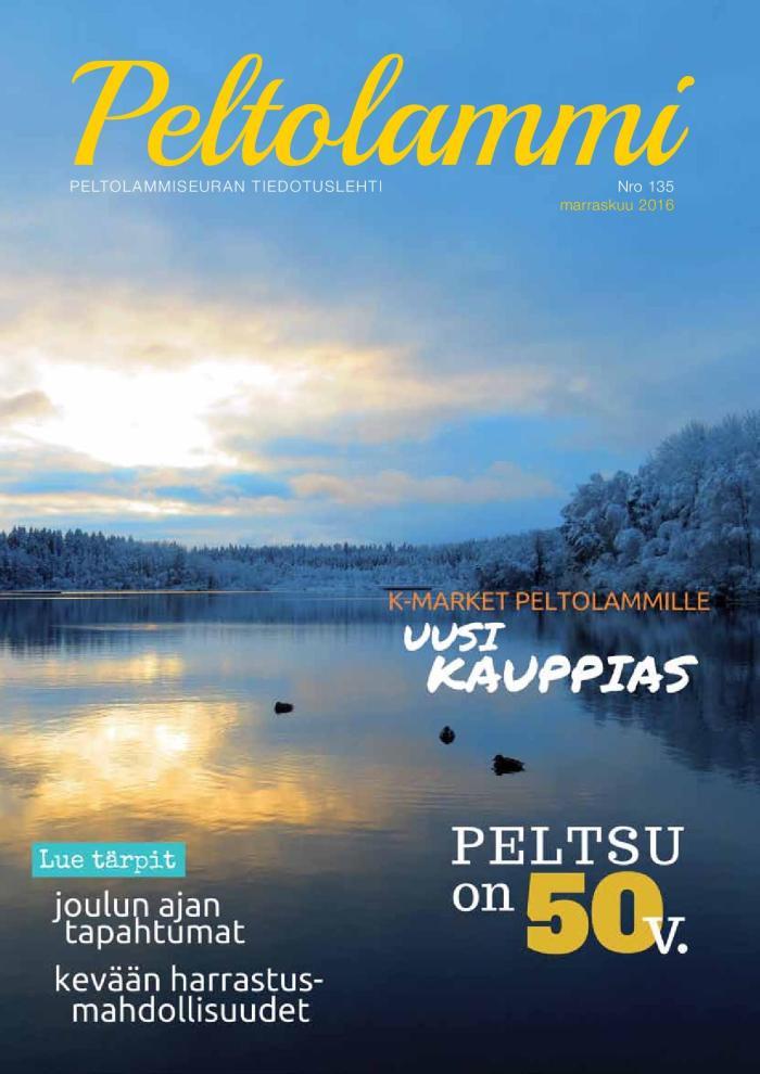 Peltolammilehti NRO 135 Marraskuu 2016