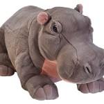 Hipopótamo de peluche gigante