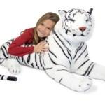 Peluche de tigre blanco gigante