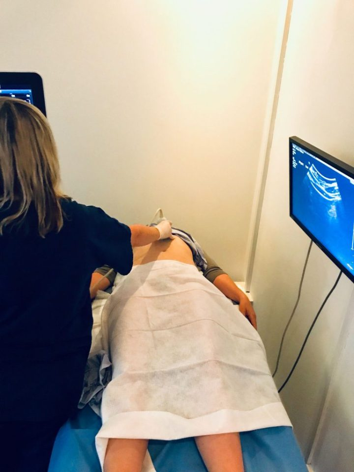 ultrasound to check for nutcracker syndrome at the whiteley clinic