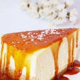 New York Cheesecake {Salted Caramel Sauce}
