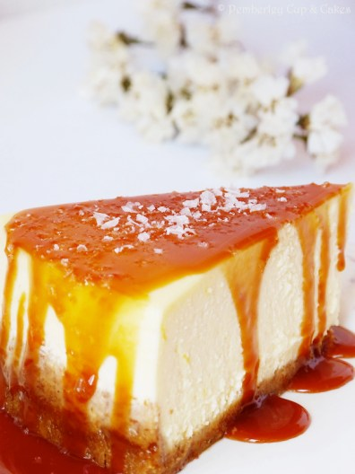 New York Cheesecake {Salted Caramel Sauce}