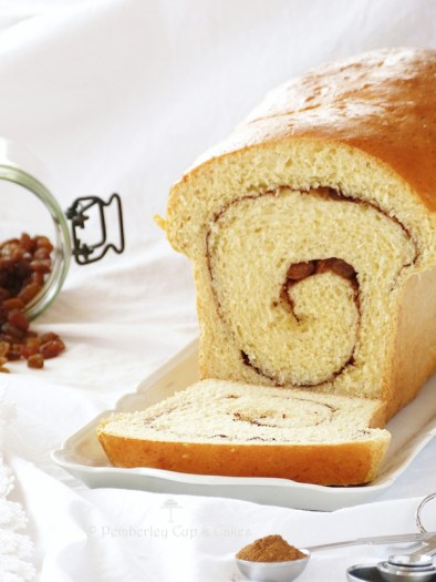Pan de pasas y canela