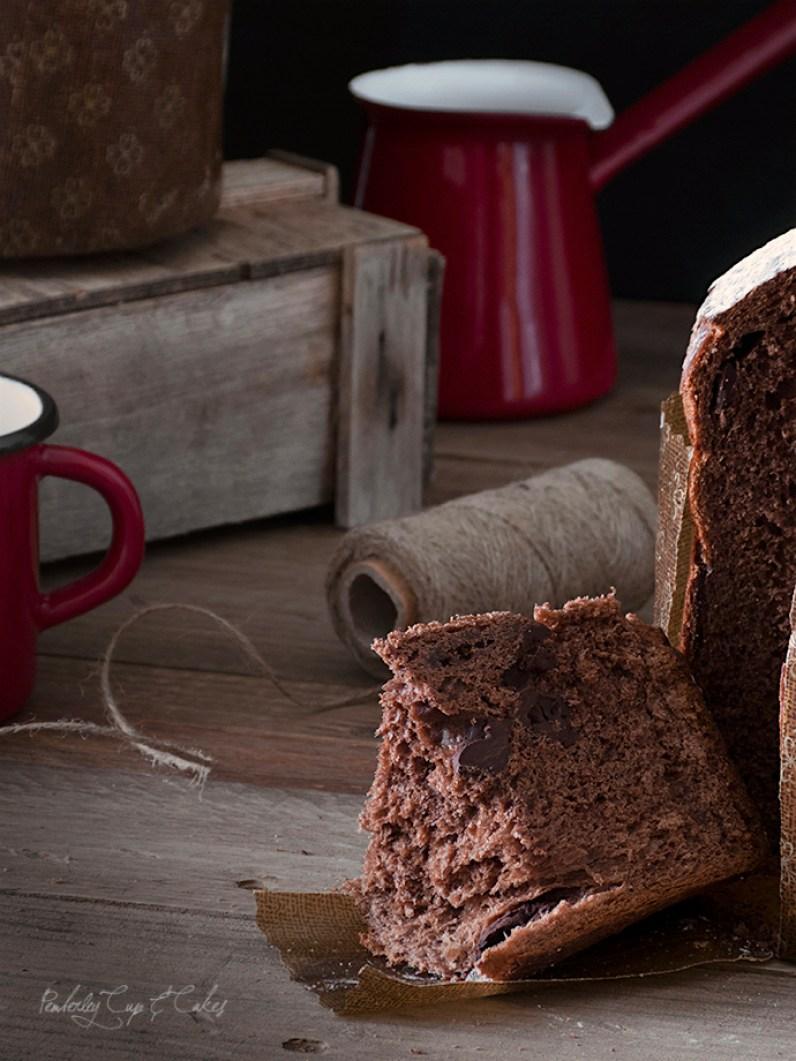 Panettone de chocolate tradicional