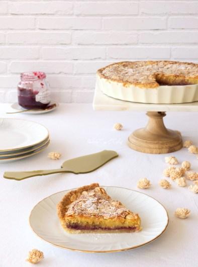 tarta de almendra y mermelada