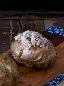 Jacket Potatoes (Baked potatoes o patatas asadas)