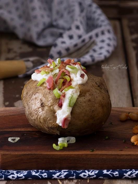 Jacket Potatoes (Baked potatoes o patatas asadas)