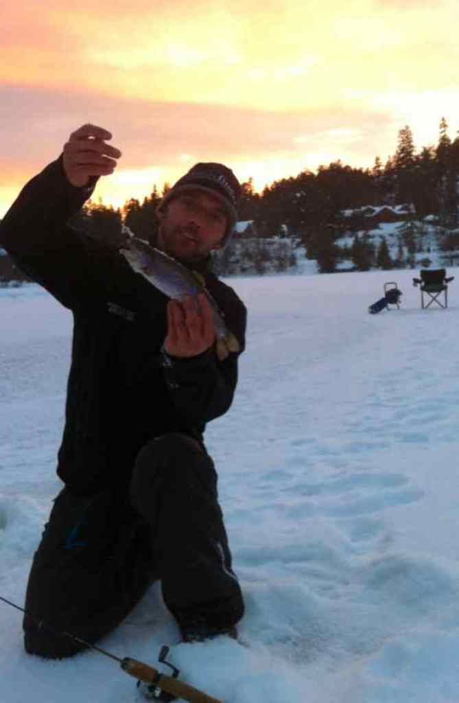 Ice Fishing in Whistler Canada