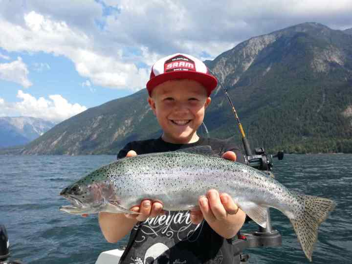 Kids fishing in Whistler BC