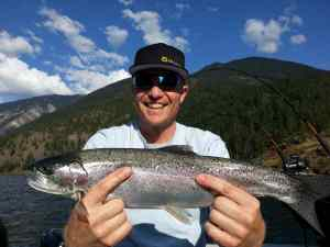 Rainbow trout fishing in Whistler