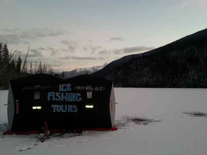 Ice Fishing in Pemberton and Whistler BC Canada