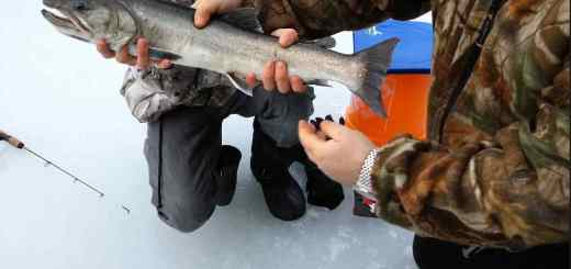 Winter Ice Fishing in Whistler British Columbia Canada