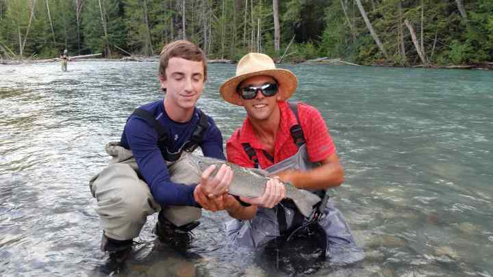 River Fishing in Whistler British Columbia Canada