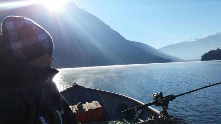 Fishing Birkenhead Lake BC Provincial Park