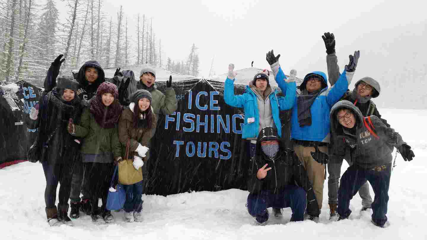 Ice Fishing With Friends Amp Families Whistler Bc Canada
